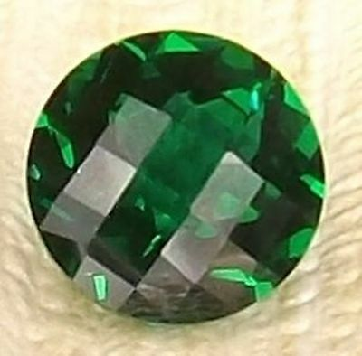 Hydrothermal Lab Created Emerald Green Round Checkerboard Loose stone (5mm-15mm)
