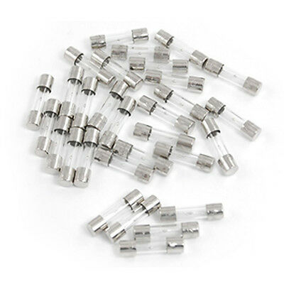 30 Pcs Electrical Components Glass Tube Fuse 250V 5A