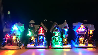 Christmas Winter Houses LED Decoration Beleuchtet Weihnachtshaus - many models