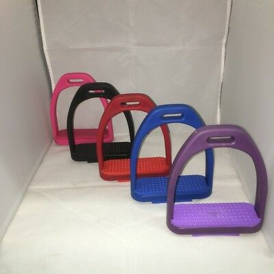 Blue / Pink / Red / Purple Lightweight, High Strength Plastic Polymer Stirrups