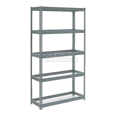"""Extra Heavy Duty Shelving 48""""W x 24""""D x 84""""H With 5 Shelves, No Deck"""