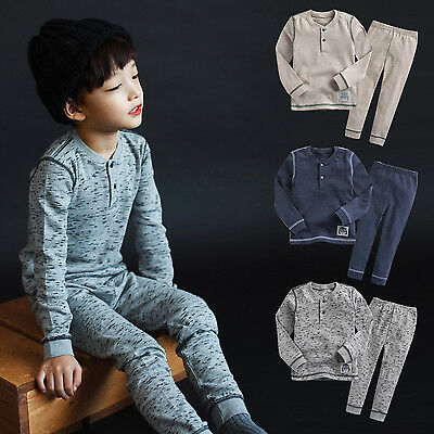 "Vaenait Baby Infant Toddler Kids Boys Clothes Pajama Set ""Boys Melange"" 12M-7T"