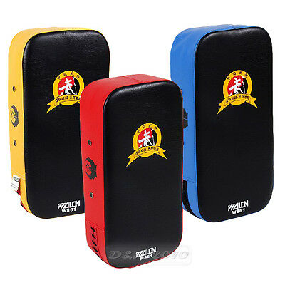 Thai Kick Boxing Strike Curved Arm Pad MMA Focus Muay Punch Shield Foot Target