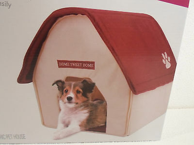 """NEW Red Roof Pet Shoppe Fabric Portable Dog Cat 16"""" House pad soft padded base"""
