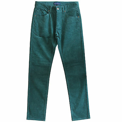 New Corduroy Pants Mens Cords Jeans Slim Fit Green Size 30 31 32 33 34 35 36