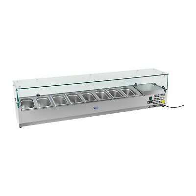 Salad Bar Food Display Fridge Countertop Cooling 180 Cm Pizza Prep Attachment