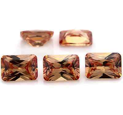 Cubic Zirconia Champagne Octagon Faceted AAA CZ Loose Stones (6x4mm - 18x13mm)