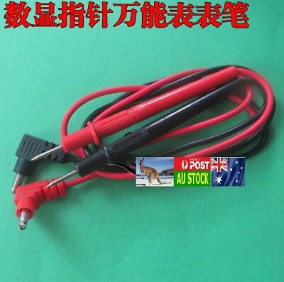 .Universal Multimeter Probe Test Lead 1000V 10A approx 1 meter long AU local