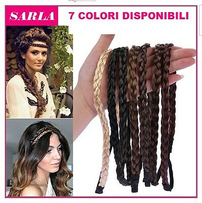 ELASTICO TRECCIA FASCIA EXTENSION ACCONCIATURA CAPELLI DONNA HairBraid HAIRSTYLE