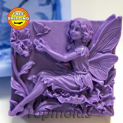 Beautiful Fairy Mold Soap Mold Silicone Molds Mold Fairy Free Shipping