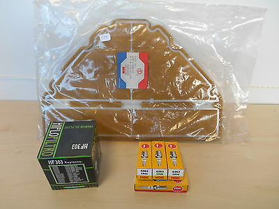 Pack Kit Entretien Filtre Air Huile Bougies Yamaha Yzf 600 R Thundercat 96 / 03