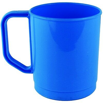 275ml Plastic Campers Travel Mug Blue - strong and lightweight - Yellowstone