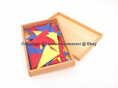 NEW Montessori Sensorial - 21 Pieces of Triangles (Detective Adjective Game)