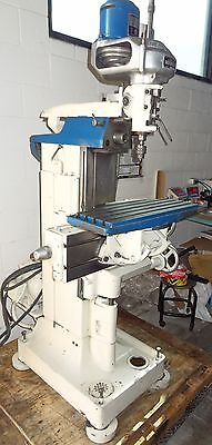 Bridgeport Mill 1/2 Hp Three Phase W/ Deckel Universal Table