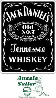 Jack  Daniels Old No. 7  sticker 180 x 140 mm  BUY 2 & Get 3