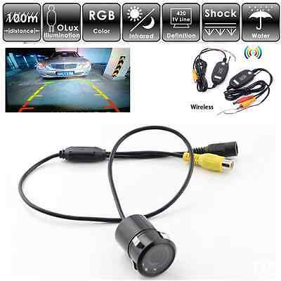 Wireless Rear View 7 IR LED Car Reversing Backup Camera Parking Sensor Security