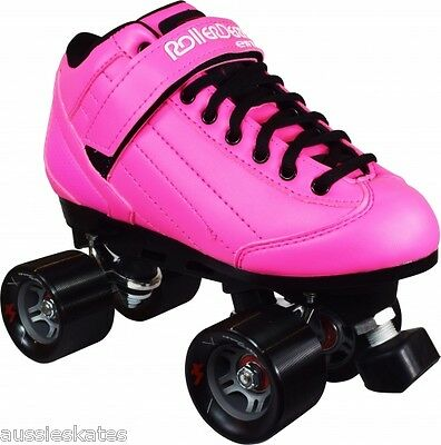 Roller Derby Stomp Factor Mens Ladies Quad Fashion Roller Skates PINK US Size 7