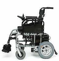 Folding Electric Wheelchair- Pride R4 18 inch-Removable Batteries-Height Adju...