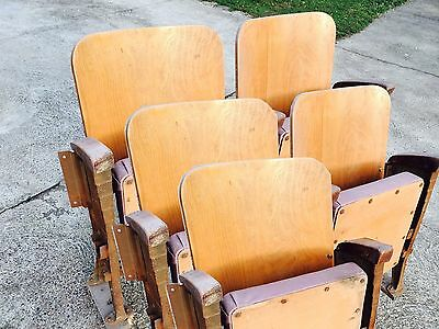 Seat Armchair Folding seats Chair from Cinema Theatre bench old vintage retro