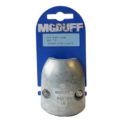 M.G.Duff Zinc Shaft Anode With Insert - 22mm / 25mm / 31.7mm / 40mm Sizes Avail