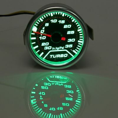 2'' 52Mm Manometro Pressione Turbo Boost Guage 30In.hg/35Psi Auto Race Led Verde