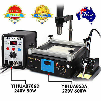 FOR YIHUA Hot air gun Soldering Iron Rework Station Preheat stand holder BGA SMD