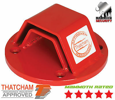 Motorcycle Motorbike Ground Anchor Lock Thatcham Approved Bolt In Ground Lock