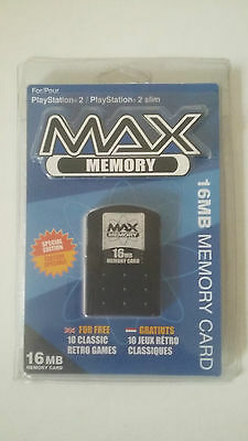 Carte Mémoire Max Memory 16Mb - Sony Playstation 2 - Memory Card Ps2 - Neuf