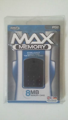 Carte Mémoire Max Memory 8Mb - Sony Playstation 2 - Datel Memory Card Ps2 - Neuf