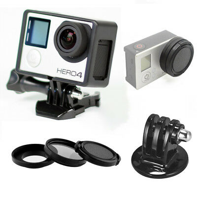 PhotR The Frame Mount Housing Shell Cover + Tripod Adapter for GoPro Hero 3 3+ 4