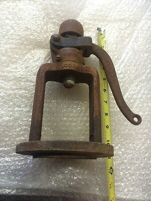 Vintage Antique Cast Iron Pressure Relief Valve Part With Handle Steampunk/Art