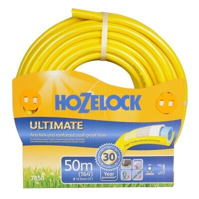 Hozelock Ultimate Anti-Kink Knitted YELLOW Garden Hose 12.5mm x 50m -7850