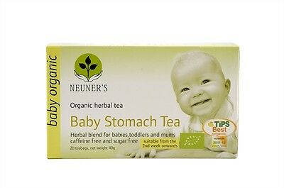 Neuner's Organic Baby Stomach Tea 20 bags (Pack of 2) Digestive Baby Tea
