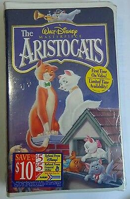 The Aristocats (Vhs,1996) Walt Disney  Classic New Factory Sealed Clam Shell