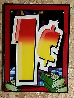 Casino Slot Machine Penny Sign ONE CENT