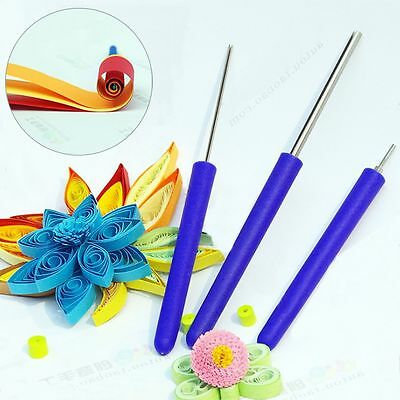 3pcs/Set Quilling Slotted Needle Pen Tool Kit Winder Origami Paper Creation DIY