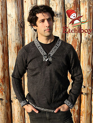 Metis Sweater Etchiboy Charcoal Alpaca Wool Square Shape XS-XL