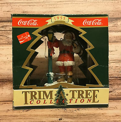 Coca Cola Trim a Tree Collection Santa at the Lamppost