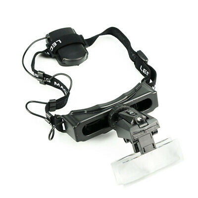 LED Head-wearing Reading Timepieces Repairing Magnifier Hands Free Head Loupe