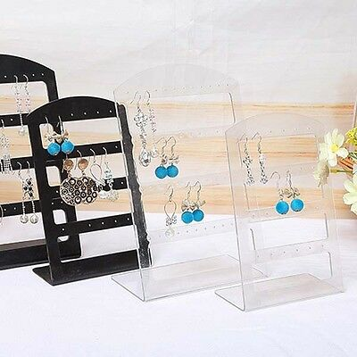 Design Holes Ear Stud Display Holder Showcase Transparent Jewelry Earrings