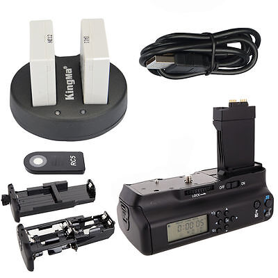Meike LCD Battery Grip For Canon 550D 600D 650D 700D + 2*LP-E8 Battery + Charger
