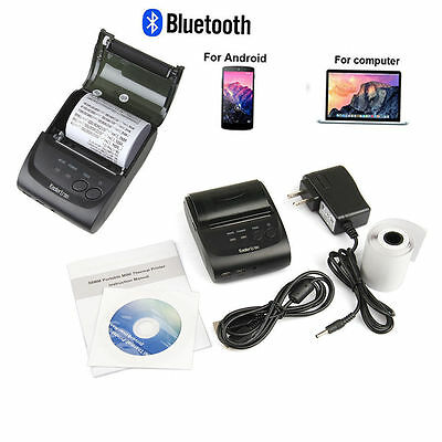 58mm Mini Portable Bluetooth 4.0 Wireless Receipt Thermal Printer for Android EA