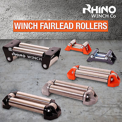 RHINO Winch Fairlead Rollers ~ Heavy Duty Compact - Cable Guide Fits All Winches