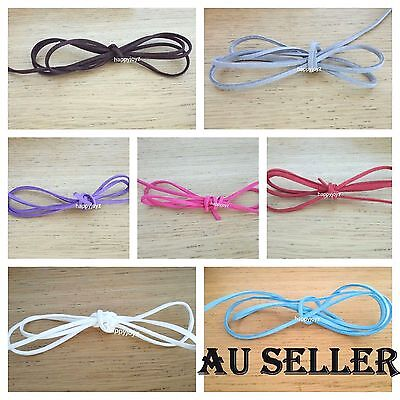 2 M Suede Faux Leather Cord String Jewellery making Bracelet choker DIY craft