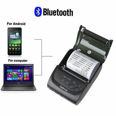 Windows & Android 58mm Portable Bluetooth 4.0 Wireless Receipt Thermal PrinterAB