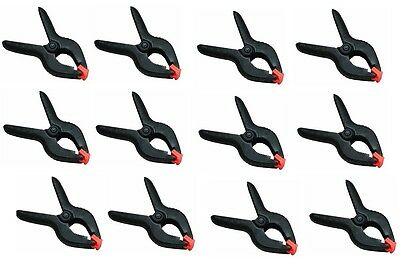 12 Pack - 6 Inch Spring Clamps Large Heavy Duty Plastic Muslin Clamps