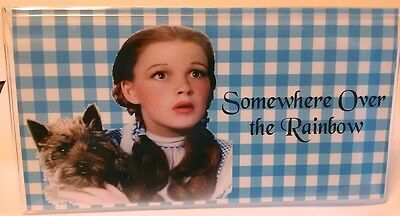 Checkbook Cover Somewhere Over the Rainbow Wizard of Oz Dorothy Toto Vinyl