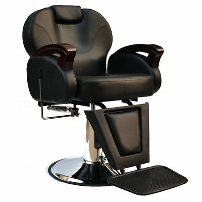 Comfort Barber Chair Salon Hydraulic Reclining Hairdressing Threading Shaving UK