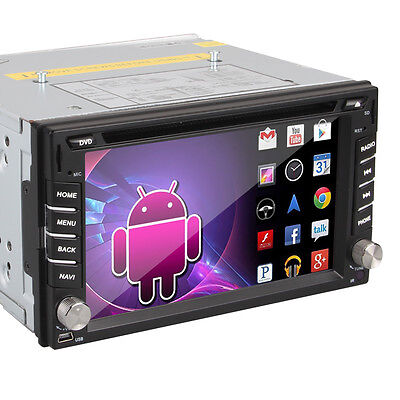 Android 15.7cm Doble 2 Din Coche Estéreo Reproductor de DVD BT Radio iPod RDS