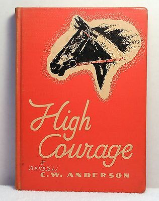 1960 HIGH COURAGE C W Anderson Horse Riding Story Illustrated Macmillan Pub Co